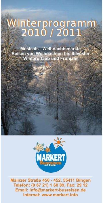 Winterprogramm 2010 / 2011 - NEU