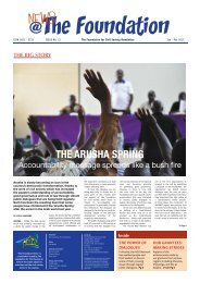 The ArushA spring - The Foundation for Civil Society