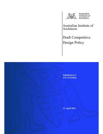 Draft Competitive Design Policy - Australian Institute of Architects