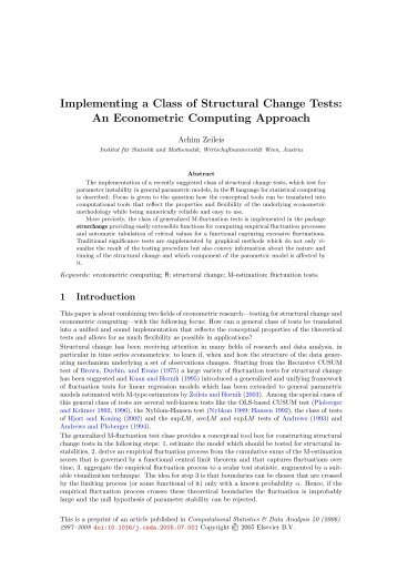 Implementing a Class of Structural Change Tests - Institute for ...