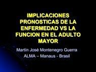 implicaciones pronosticas de la enfermedad vs la funcion en el ...