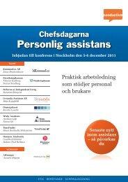 Chefsdagarna Personlig assistans - Conductive