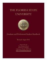 FSU Graduate and Professional Student Handbook. - (Campus.fsu ...