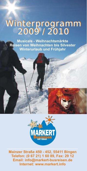 Winterprogramm 2009 - NEU
