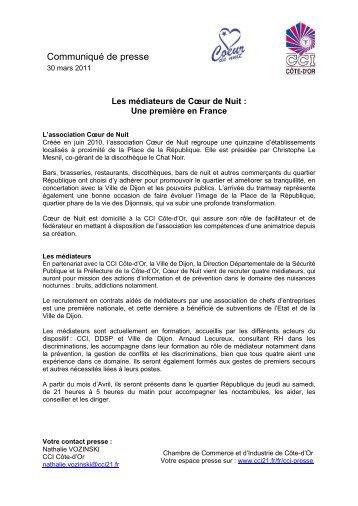 Communiqué de presse - CCI Côte-d'Or
