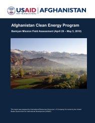 Afghanistan Clean Energy Program