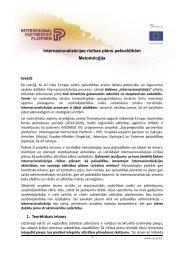 Internacionalizācijas rīcības plāns pašvaldībām - Valsts reģionālās ...