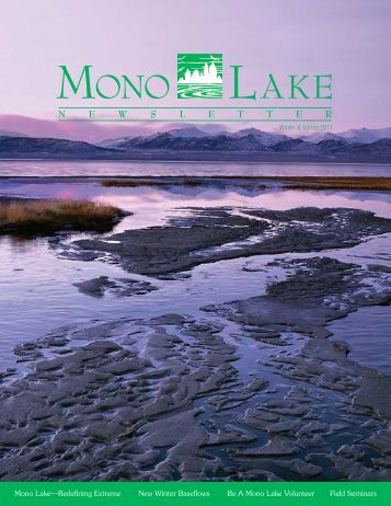 2011 Winter & Spring Mono Lake Newsletter - Mono Lake Committee