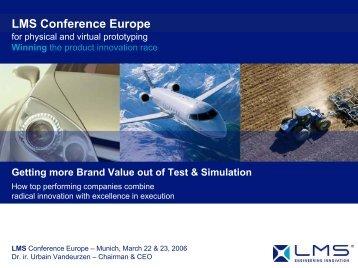 Winning the product innovation race - LMS International