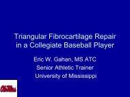 Triangular Fibrocartilage Repair in a Collegiate Baseball Player