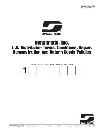 DP09.08_Terms and Conditions:D06.01_Terms ... - Dynabrade Inc.