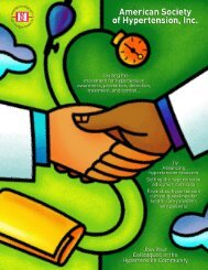 Join Your Colleagues in the Hypertension Community... - American ...