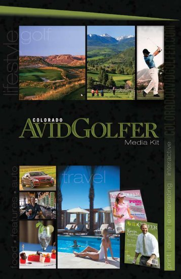Magazine - Colorado Avid Golfer