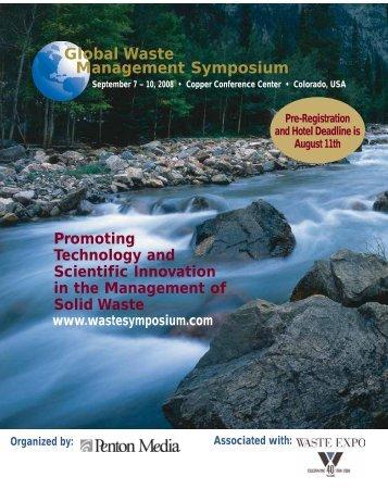 Gold Sponsor - Global Waste Management Symposium 2012