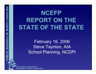 ncefp report on the state of the state - North Carolina Prototype ...