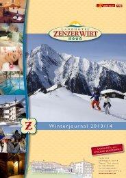 Preisliste Winter 2013/14 - Hotel Zenzerwirt
