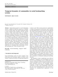 Temporal dynamics of communities in social bookmarking systems