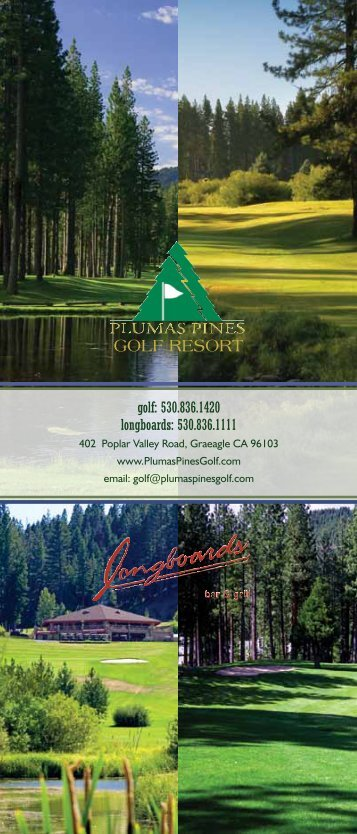 """Place to Play"" since 1998. - Plumas Pines Golf Resort"