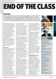 HSJ future of training roundtable special report, 14 February