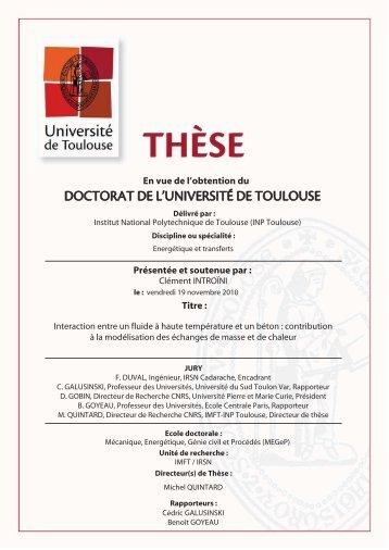PDF (Introduction, chapitres 1 et 2) - Les thèses en ligne de l'INP ...