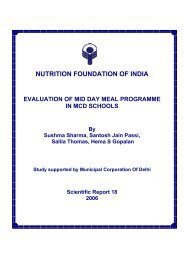 NUTRITION FOUNDATION OF INDIA