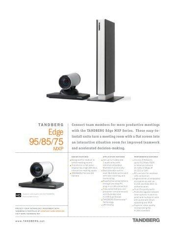 tandberg edge 75 85 95 mxp videoconferencia rh yumpu com Tandberg 8000 MXP Tandberg 3000 MXP
