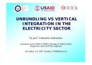 Unbundling and Vertical Integration - Narucpartnerships.org