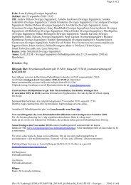 Lena Kylberg (Sveriges Ingenjörer) Skickat: den 23 september 2010 ...