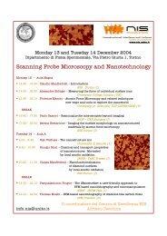 Scanning Probe Microscopy and Nanotechnology - Dipartimento di ...