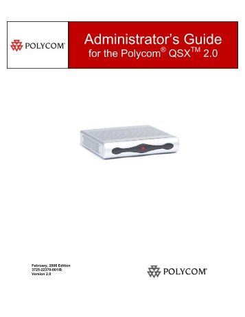 QSX User Guide - Polycom Support