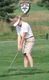 2012 Women's Southern California Golf Association