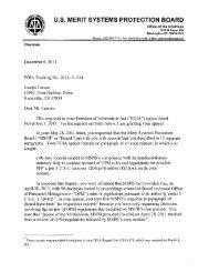 U.S. MERIT SYSTEMS PROTECTION BOARD - MSPB Watch