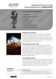 Tag-/Nacht-Kamera für den Automotive-Bereich C ... - CBC CCTV