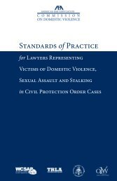 Standards of Practice - American Bar Association
