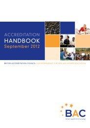 Accreditation Handbook 2012 - BAC
