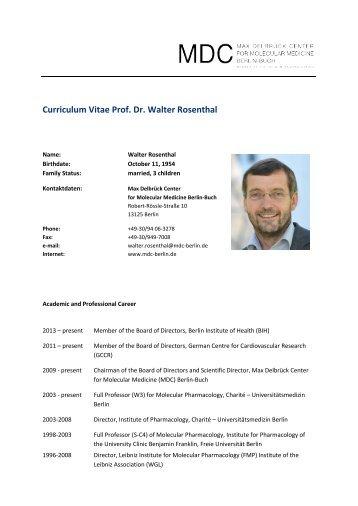 CV Walter Rosenthal - MDC