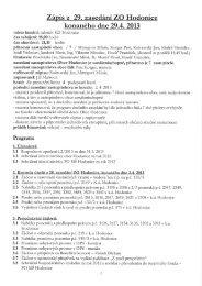 Zápis z 29. zasedání ZO Hodonice konaného dne ... - Obec Hodonice
