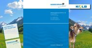 NACHHALtiG AuS trAditiON - Hans Kolb Wellpappe GmbH & Co