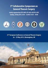 5th Collaborative Symposium on General Thoracic ... - ESTS 2012