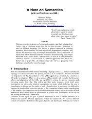 A Note on Semantics - Software and Systems Engineering - TUM