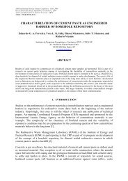 characterization of cement paste as engineered barrier of borehole ...