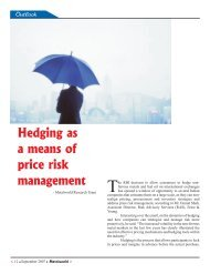 Hedging as a means of price risk management - Metalworld.co.in