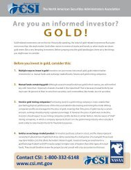 Are You An Informed Investor? GOLD!
