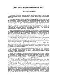 Plan anual de publicidad oficial 2013 - Municipalidad de Morón