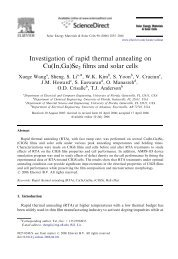 Investigation of rapid thermal annealing on Cu(In,Ga)Se2 films and ...