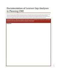 Learner Gap Analysis Document
