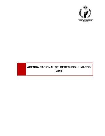 AGENDA NACIONAL DE DERECHOS HUMANOS 2013 - Comisión ...