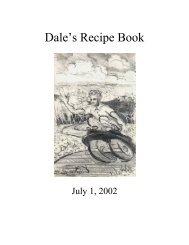 Dale's Recipe Book - preterhuman.net