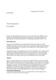 Genomförande av Europaparlamentets och rådets direktiv om rätten ...