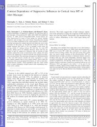 Contrast Dependence of Suppressive Influences in Cortical Area MT ...